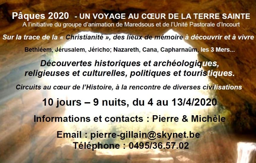 Voyage en Terre Sainte 2020 (UPIncourt)