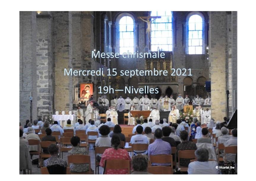 Messe chrismale à Nivelles le 15septembre